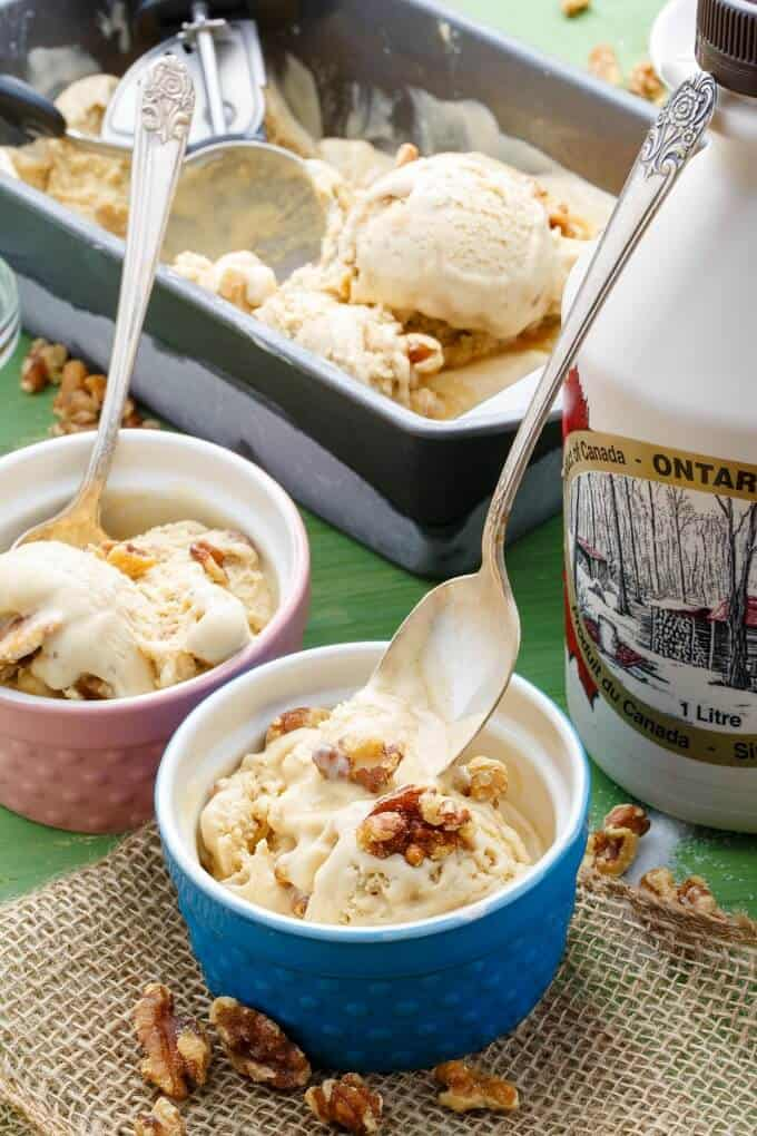 Homemade Maple Walnut Ice Cream