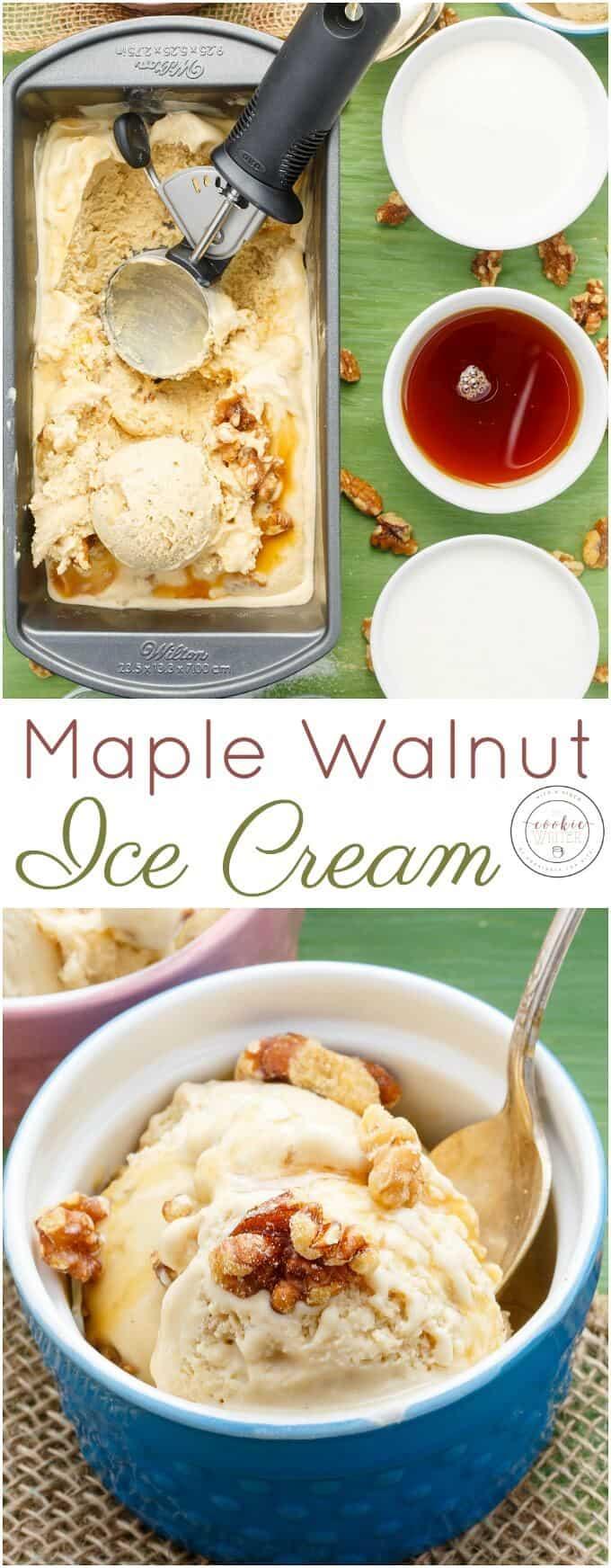 Homemade Maple Walnut Ice Cream