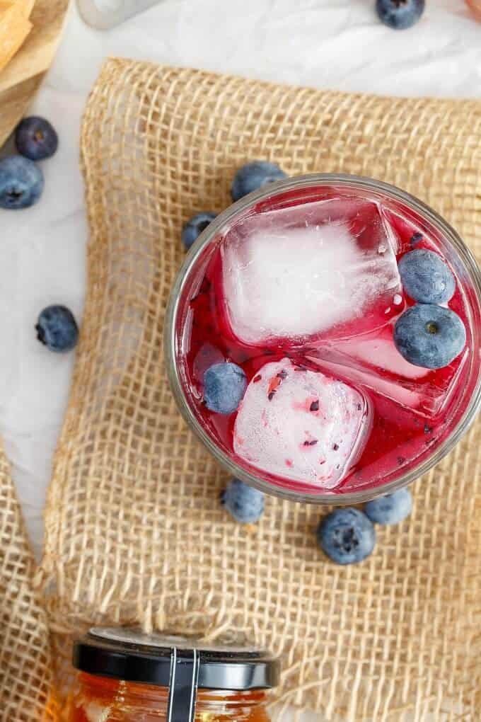 Blueberry-Honey Whiskey Sour