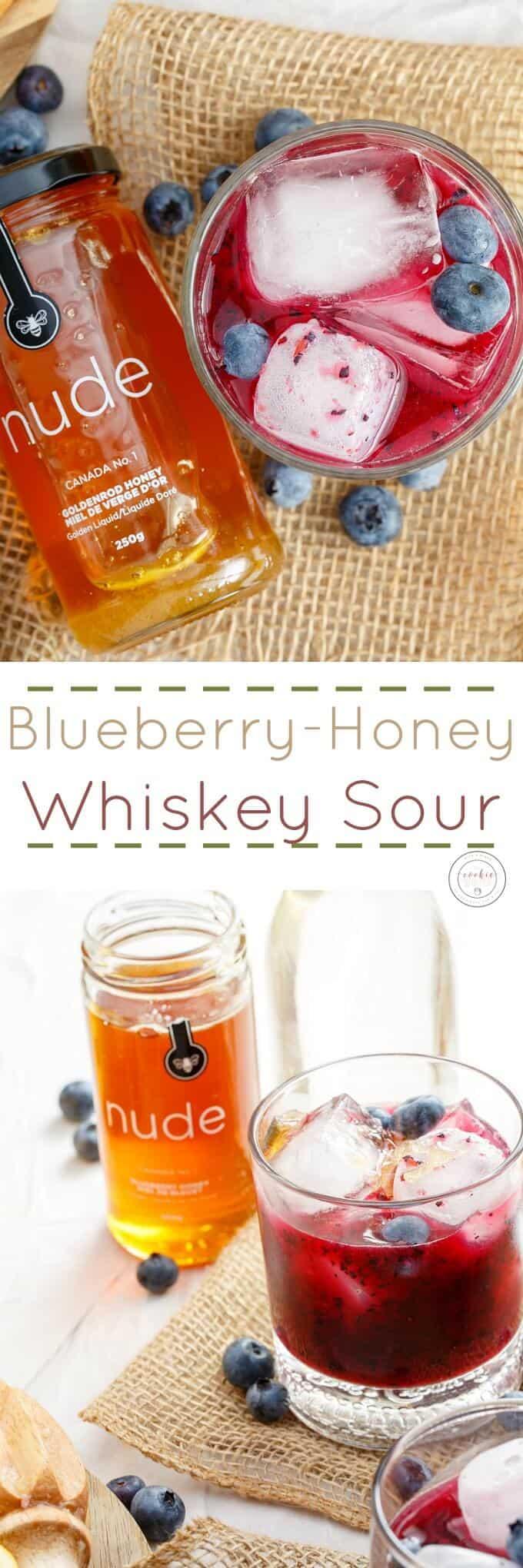 Blueberry-Honey Whiskey Sour
