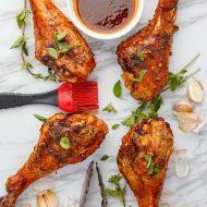 Grilled Sriracha Turkey Drumsticks