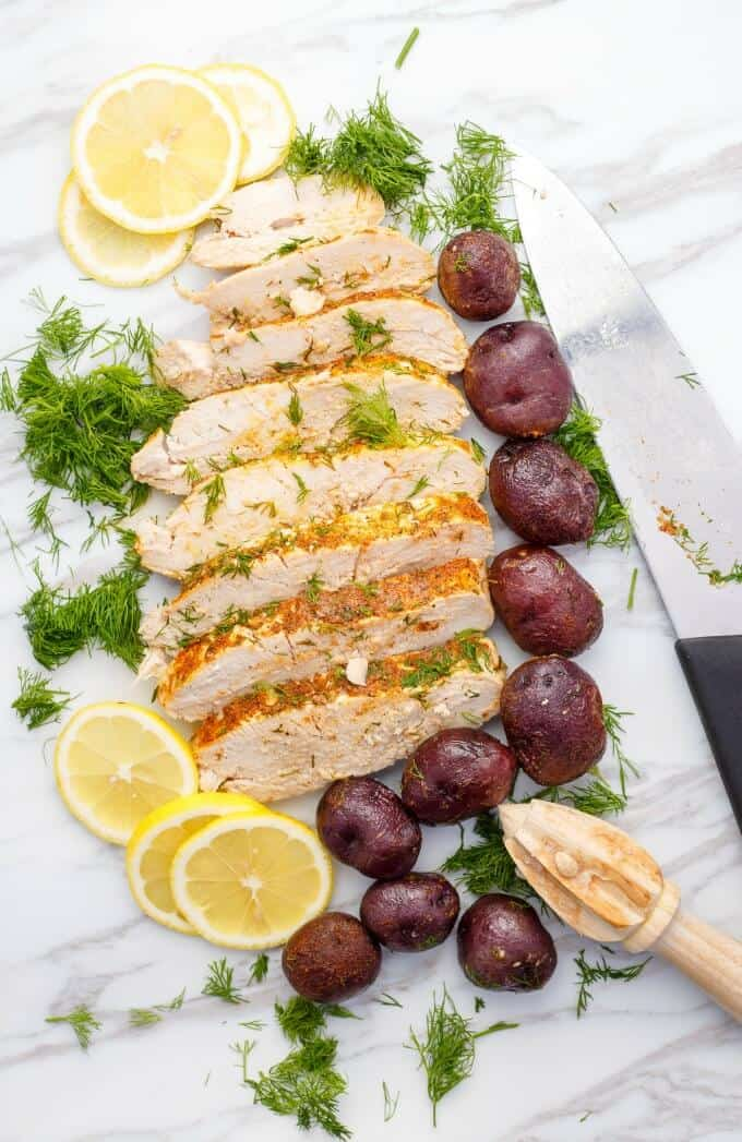 Slow Cooker Lemon-Dill Turkey Breast (Half Turkey Breast)