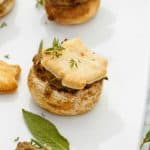 Tourtiere Stuffed Mushrooms (Meat Pie Mushrooms)