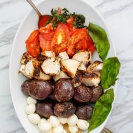 Grilled Turkey Caprese Salad (Gluten-Free)