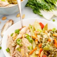 Slow Cooker Peanut Chicken Bowls