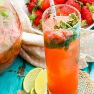 Garden Fresh Strawberry-Rhubarb Mojitos