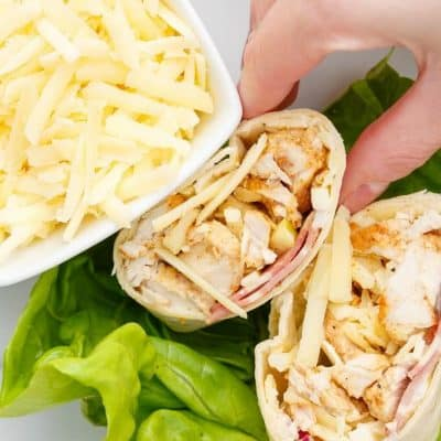 Turkey Bacon Wraps with Cheddar
