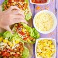 Taco Turkey-Lentil Lettuce Wraps