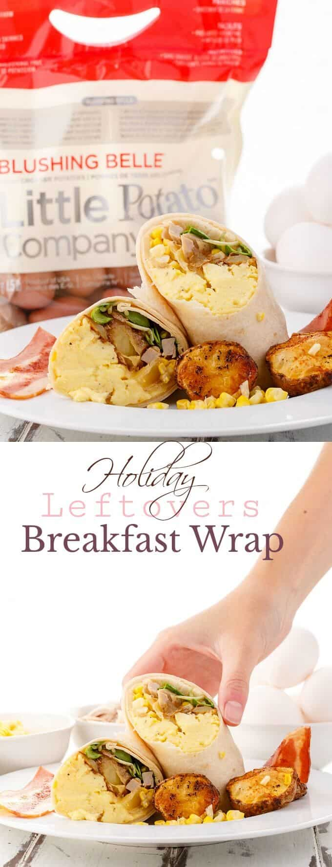 Holiday Leftovers Breakfast Wrap