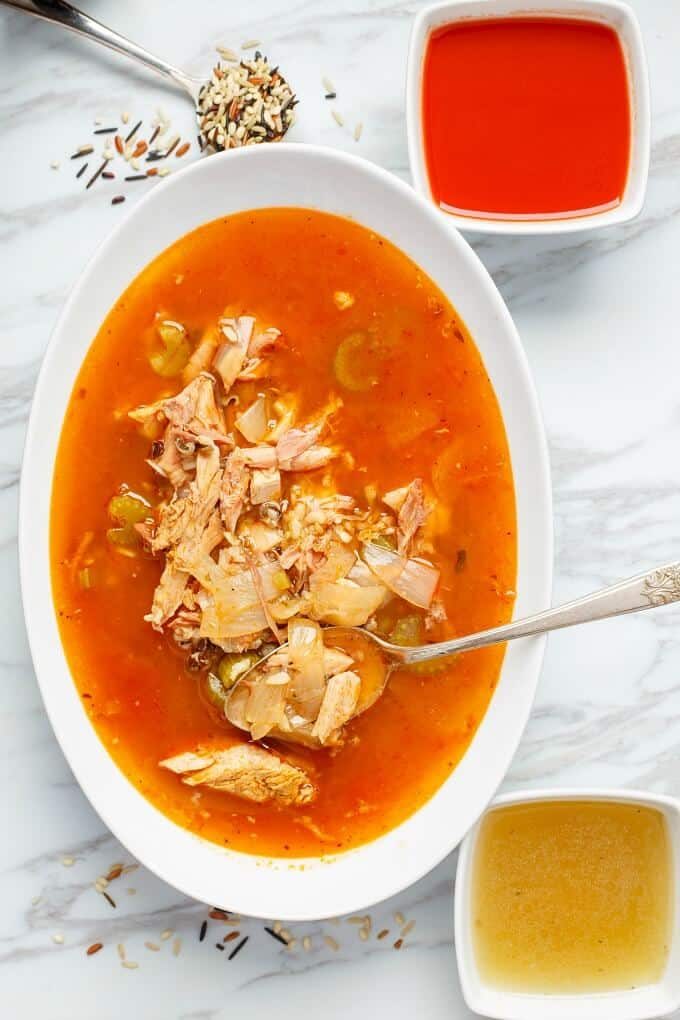 Tomato Turkey Soup with Wild Rice