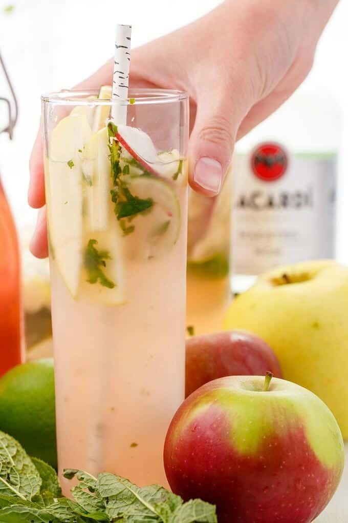 Apple Mojitos (Apple-Infused Simple Syrup)