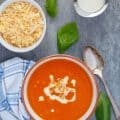 Roasted Red Pepper Soup with Gouda