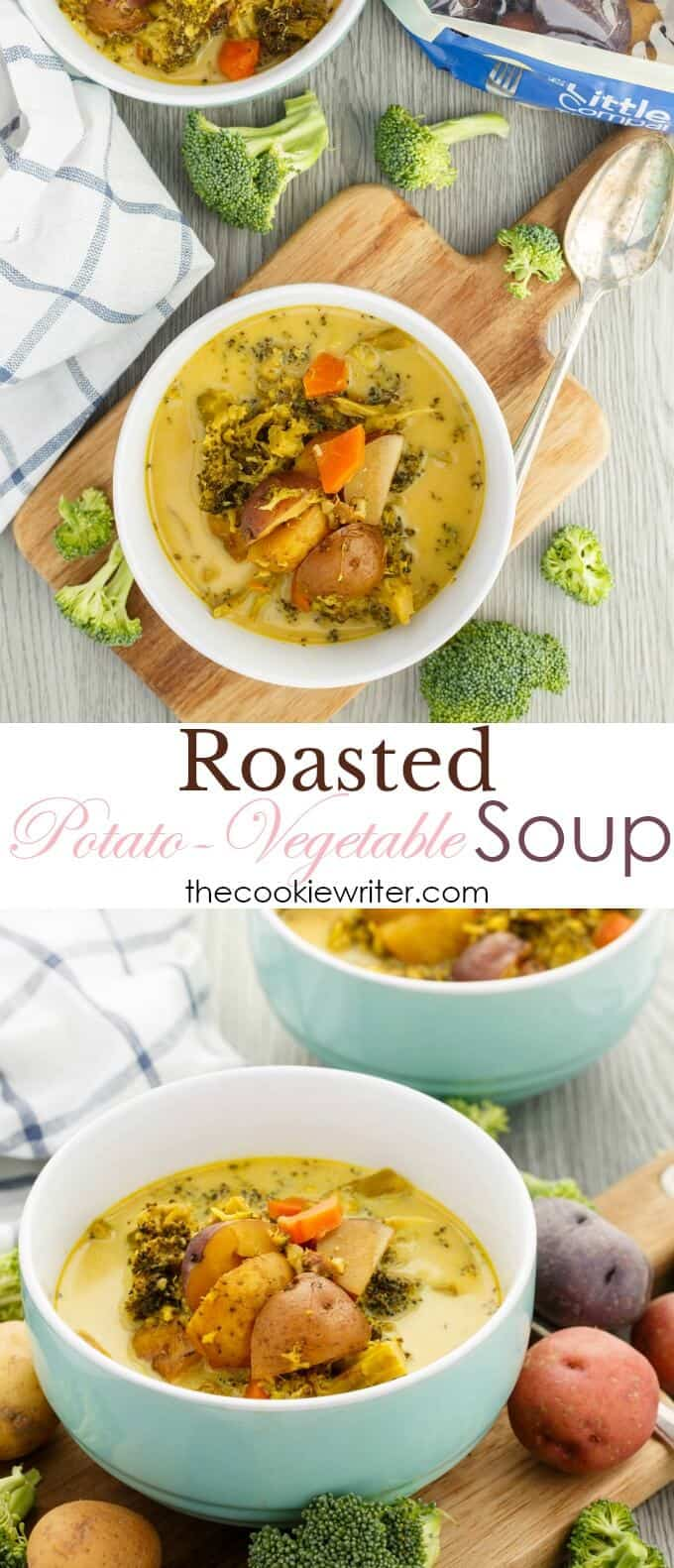 Roasted Potato-Vegetable Soup (Vegan Version Included)