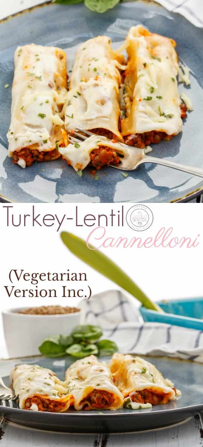 Turkey-Lentil Cannelloni (Vegetarian Version Inc.)
