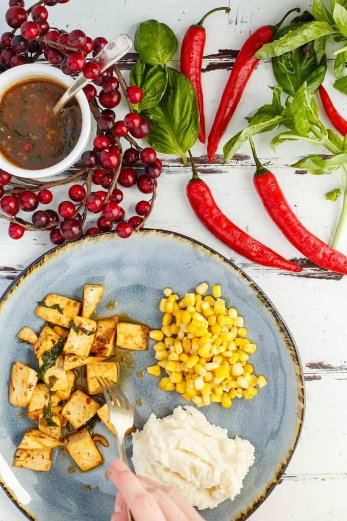 Inauthentic Thai Basil Tofu (Stir Fry Worthy!)