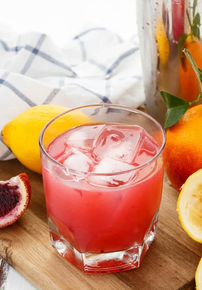 Blood Orange Whiskey Sour