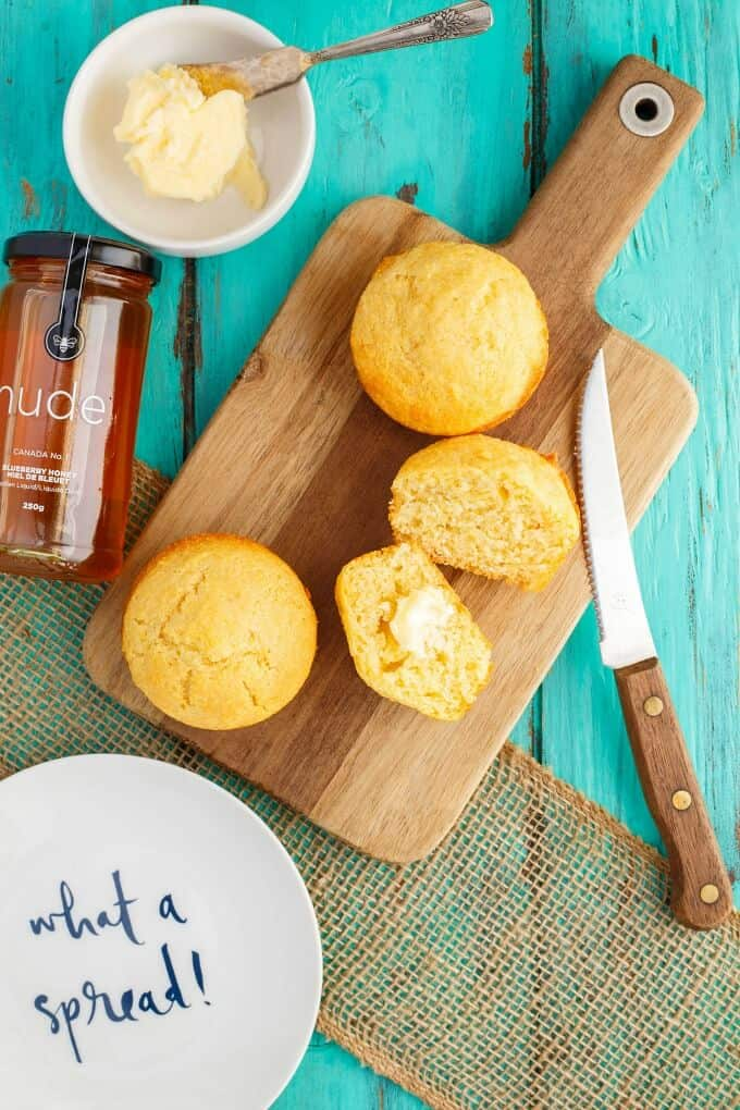 Buttermilk Honey Cornbread Muffins