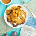 Grilled Potato Poutine (Vegetarian)