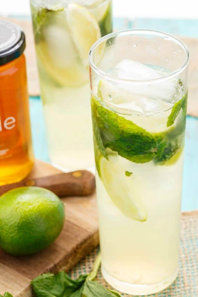 Homemade Honey Mojitos (Honey Simple Syrup)