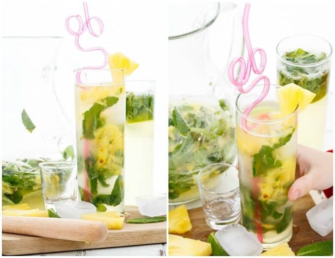 Fresh Pineapple Mojitos