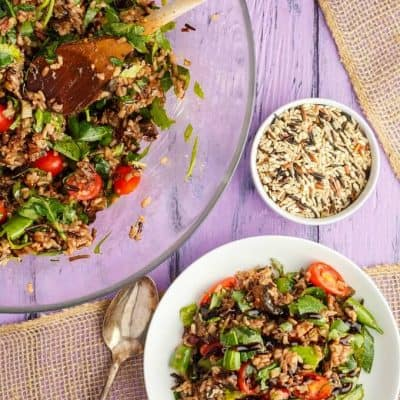 Roasted Mushroom Wild Rice Salad (Vegan INC.)