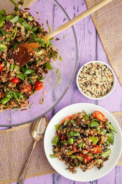Roasted Mushroom Wild Rice Salad