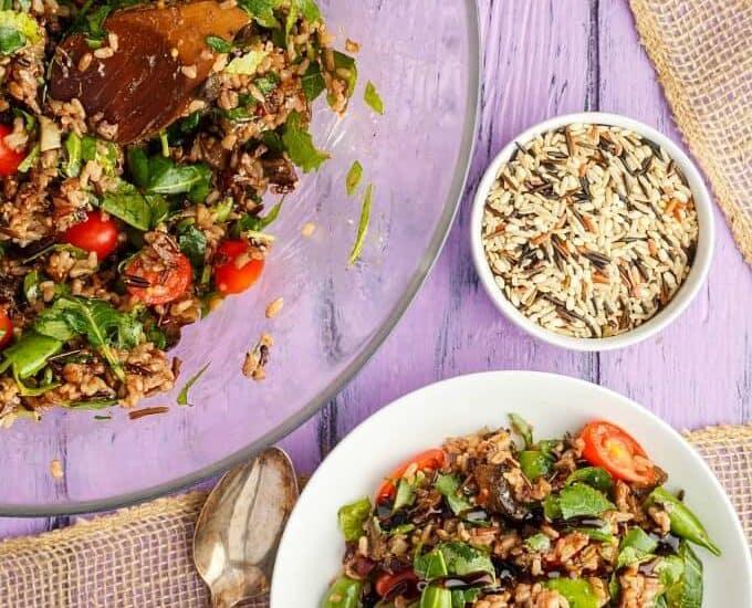 Roasted Mushroom Wild Rice Salad