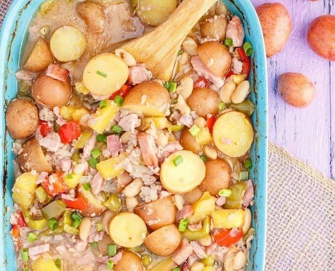 Baked Hawaiian Potato Casserole