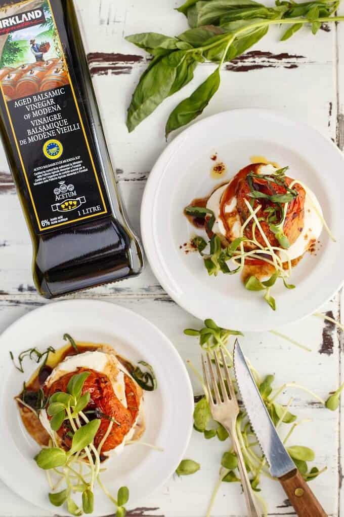 Tomato-Mozzarella Stacks (Caprese Stacks!)vvvvvvvvv