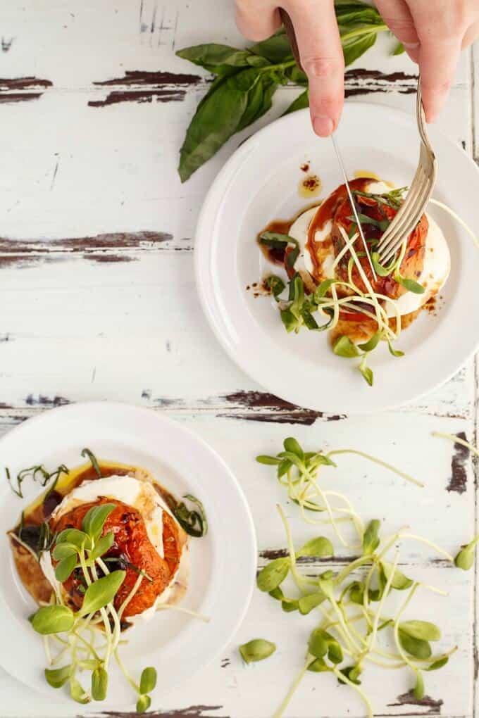 Tomato-Mozzarella Stacks (Caprese Stacks!)