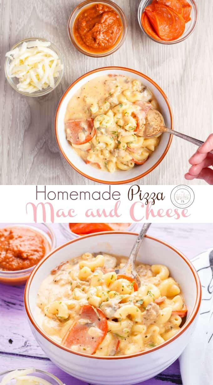 Homemade Pizza Mac and Cheese