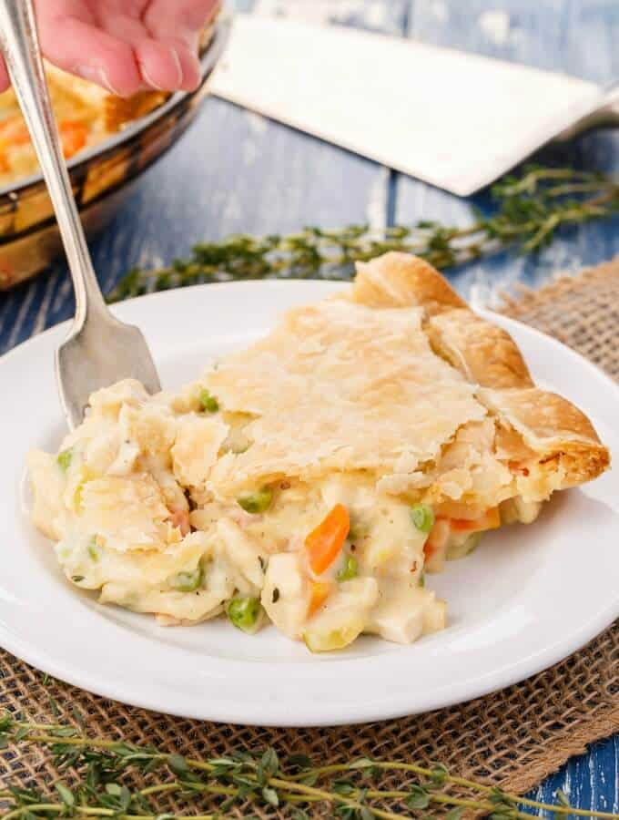 Homemade Turkey Pot Pie Using Leftovers!