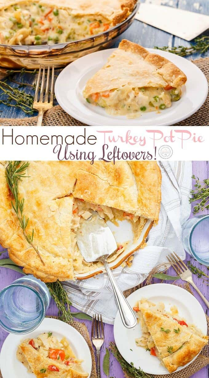 Homemade Turkey Pot Pie Using Leftovers!