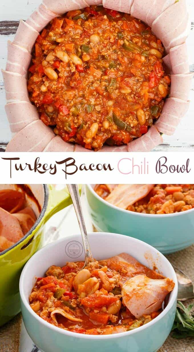 Turkey Bacon Chili Bowl The Cookie Writer