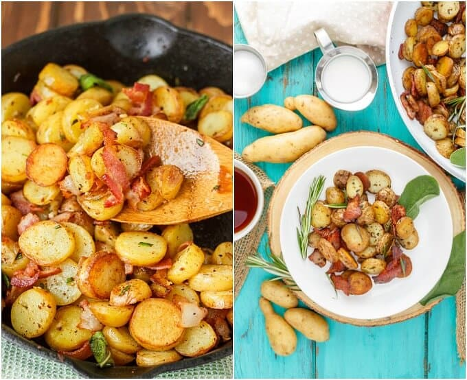 Breakfast Home Fries (using Fingerling Potatoes!)