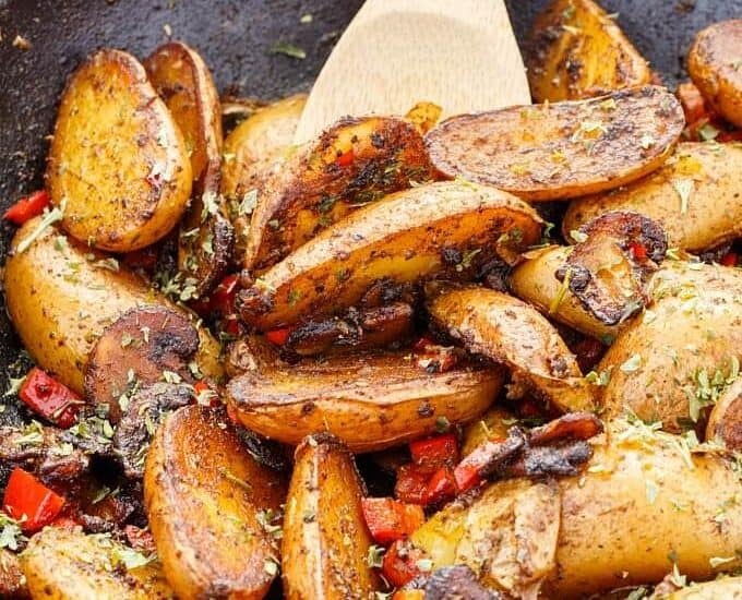 Vegetarian Home Fries (using Fingerling Potatoes!)