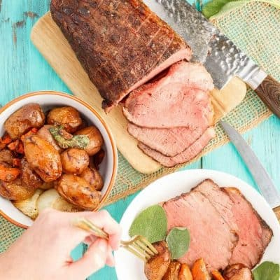 Sage Butter Round Roast with Creamer Potatoes