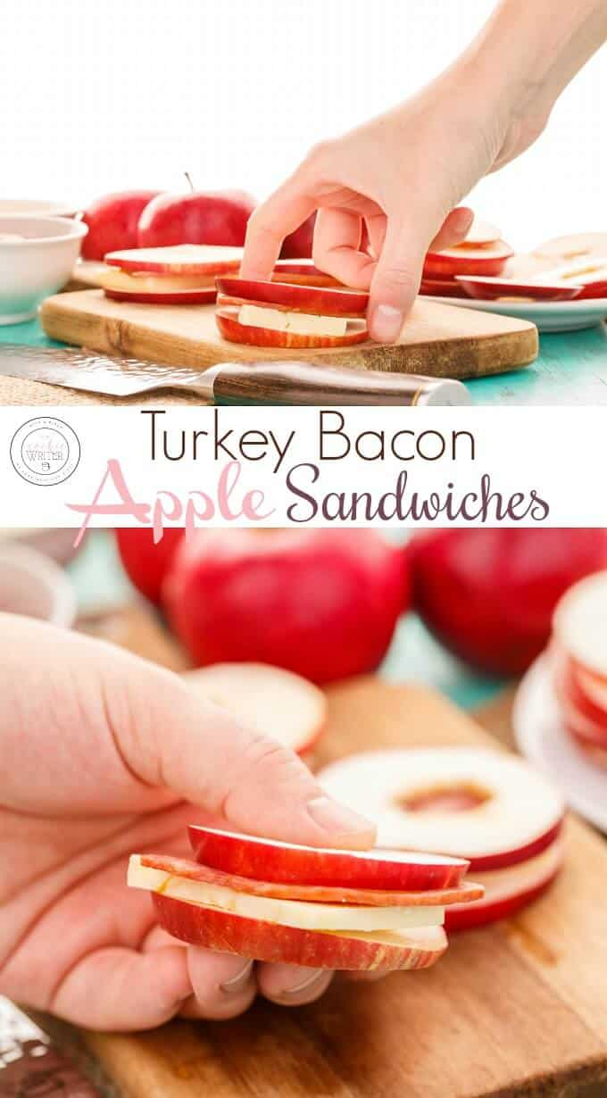 Turkey Bacon Apple Sandwiches with Cheese