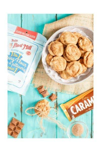 Gluten-Free Caramilk Stuffed Snickerdoodles